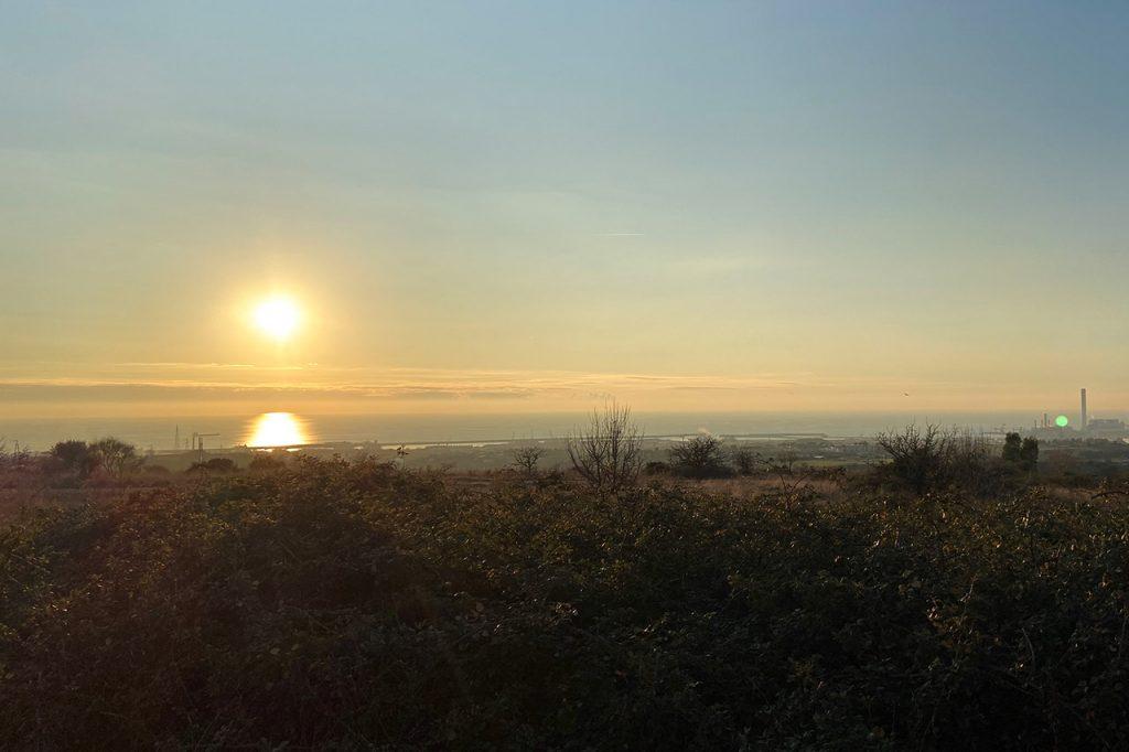 Sonnenuntergang über Civitavecchia