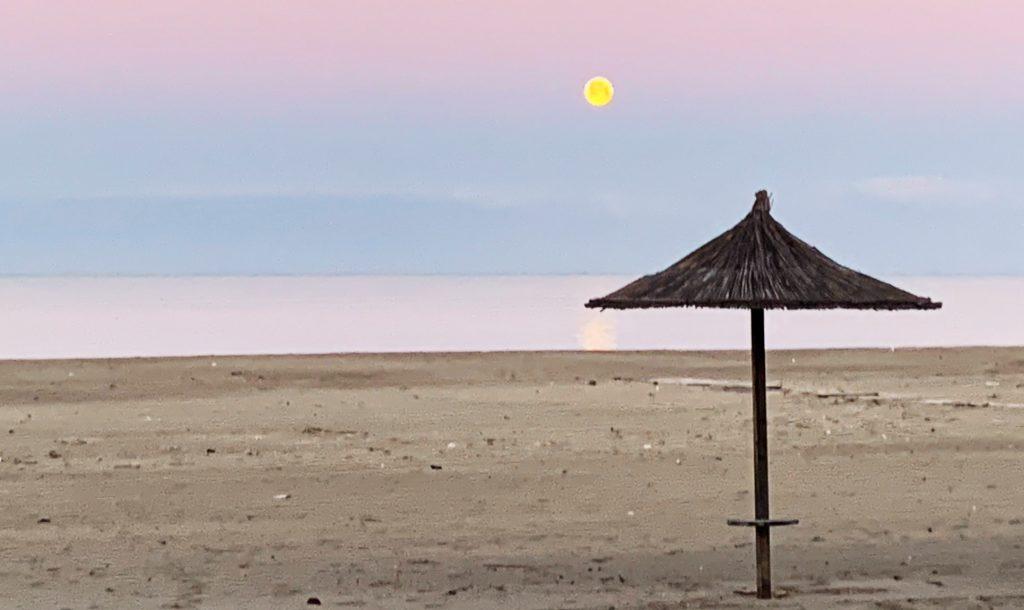 Monduntergang am Miami Beach